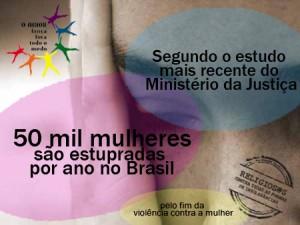 Cartaz 50 mil mulheres são estupradas no Brasil