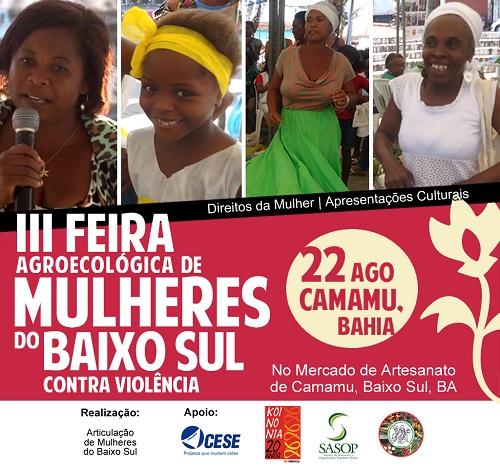 III Feira Agroecológica das Mulheres do Baixo Sul Contra a Violência