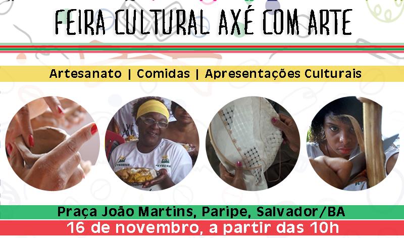 Projeto Axé com Arte promove feira cultural em Salvador