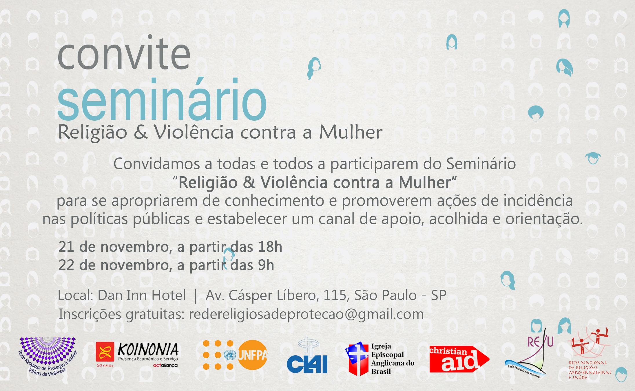 Seminário Religião & Violência contra a Mulher