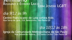 Convite Estado Laico, Religião e Jovens LGBT