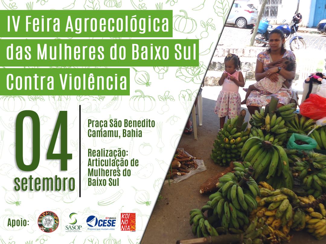 Articulação de Mulheres do Baixo Sul promove feira pelo combate à violência contra mulher