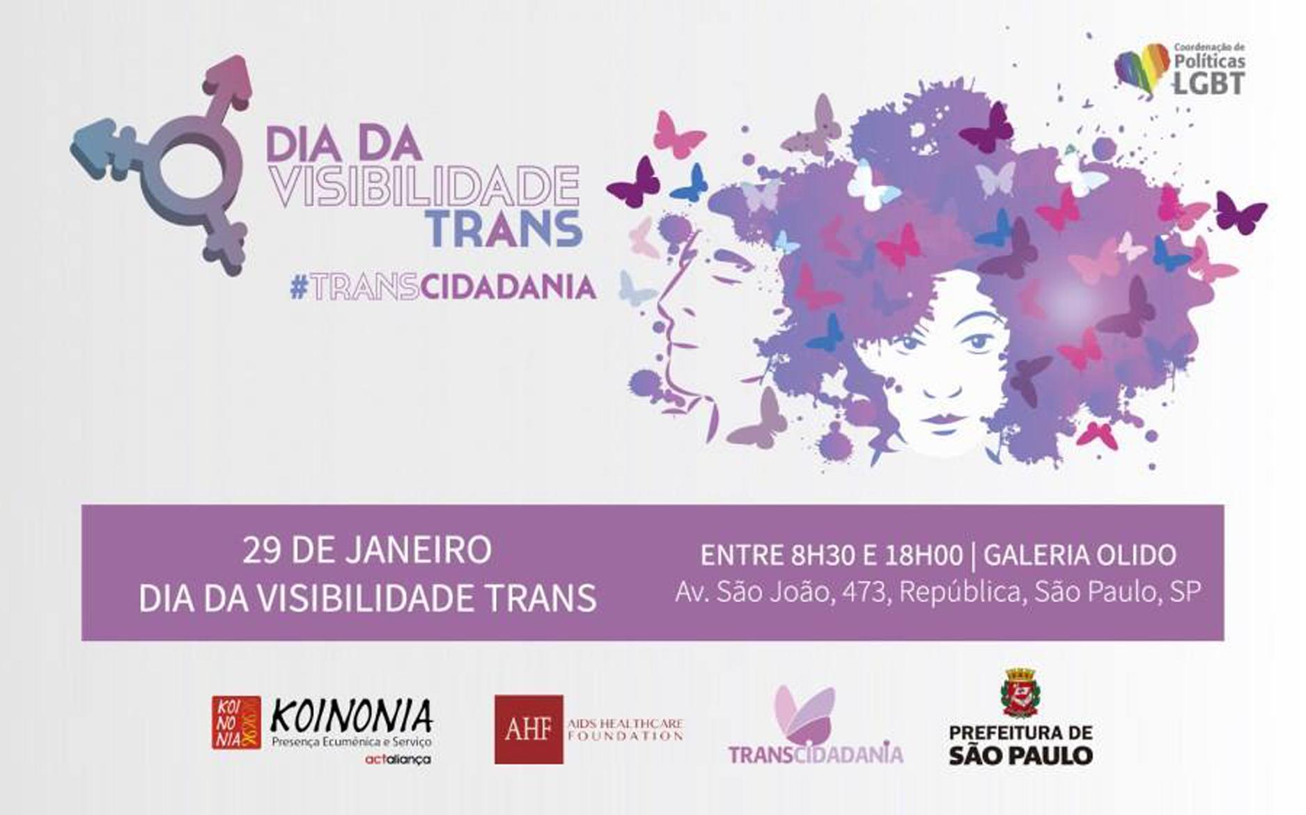 Em São Paulo, Dia da Visibilidade Trans é comemorado com programação especial