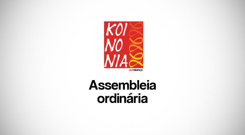 Assembleia de KOINONIA Presença Ecumênica e Serviço no dia 9 de julho