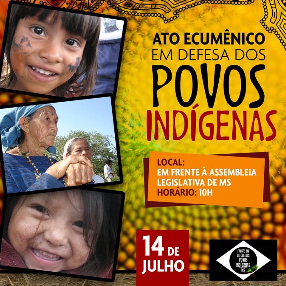 Missão Ecumênica de Apoio aos Guarani Kaiowá convoca ato em defesa dos povos indígenas, no MS
