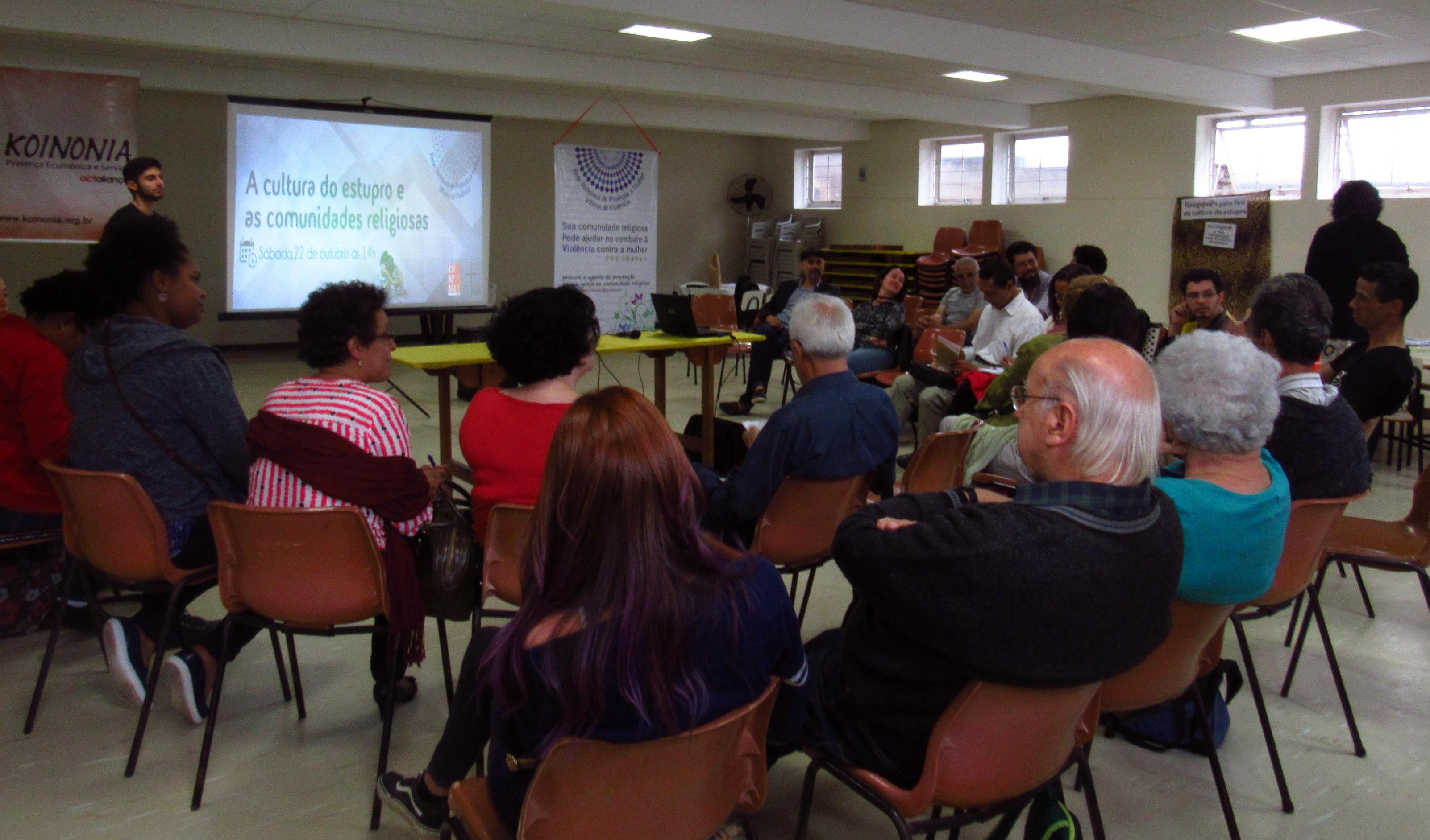 Relação da cultura do estupro e as comunidades religiosas foi tema de roda de conversa em São Paulo