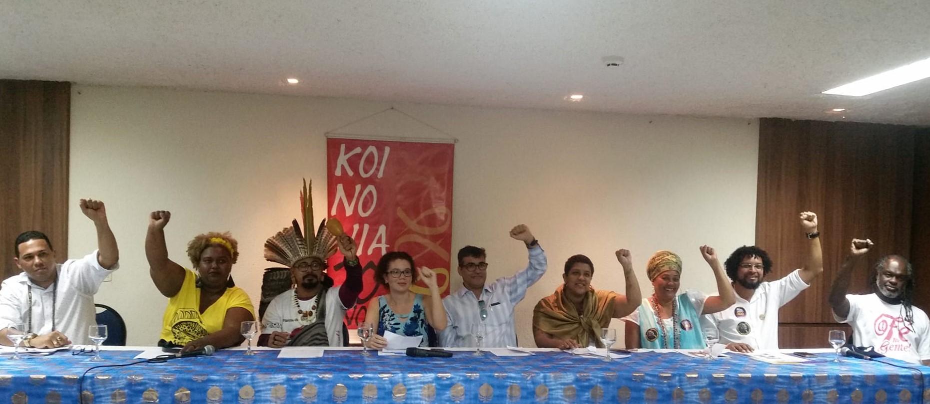 O debate das candidaturas federais e estaduais com o povo de santo em Salvador – BA