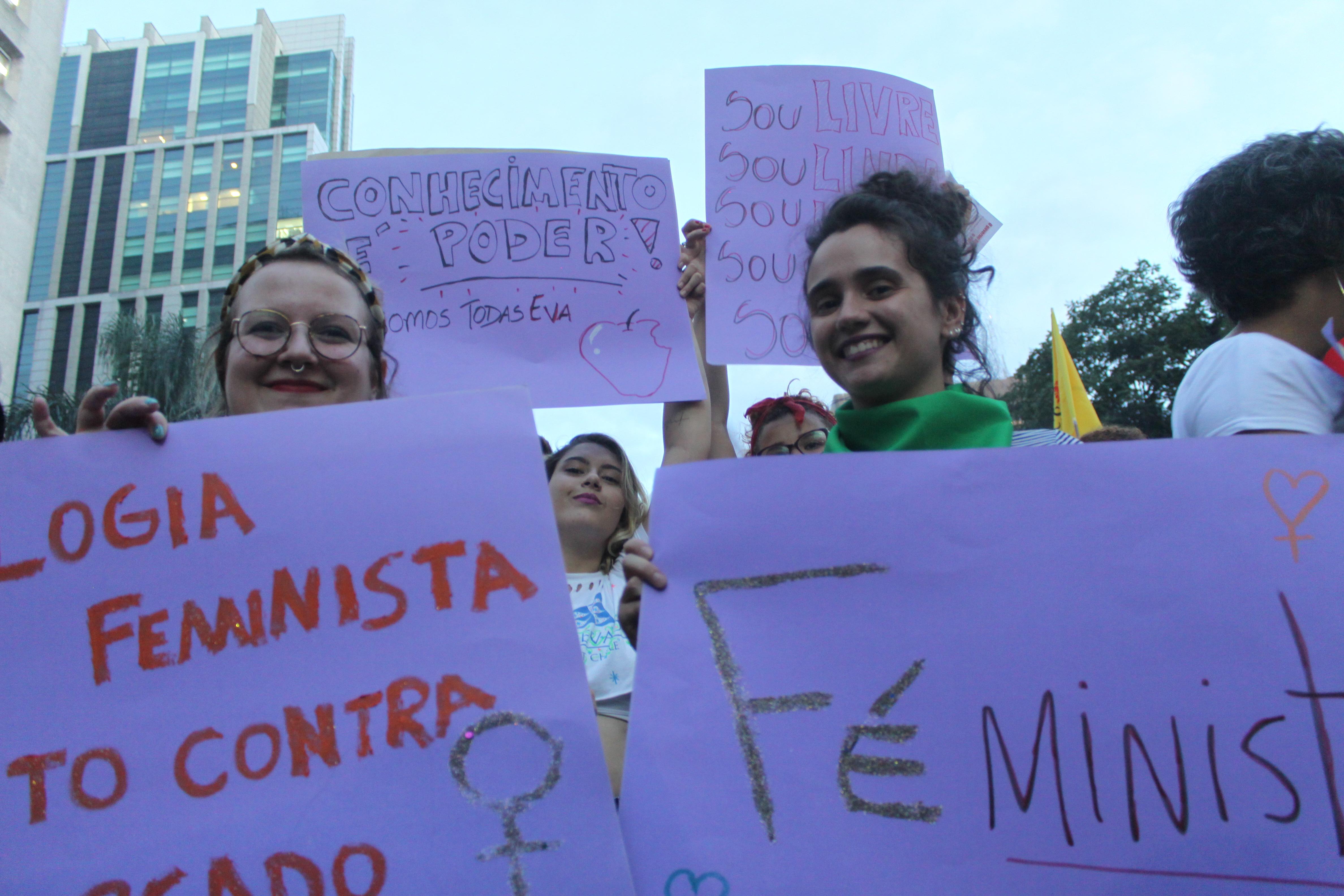 #8M – O silencio é omissão, é crueldade, é pecado. Mulheres de Fé Contra a Violência!