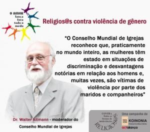 Cartaz Religiosos Contra a Violência de Gênero (Walter Altmann)
