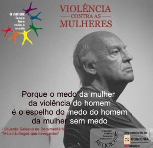 Cartaz Violência Contra as Mulheres (Eduardo Galeano)