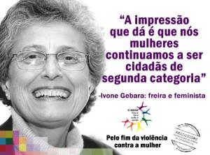 Cartaz Violência Contra as Mulheres (Ivone Gebara)