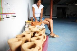 Oficina de cerâmica no Ilê Axé Torrun Gunan: peças de culto e debates sobre racismo ambiental