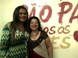 Dediane Souza, coordenadora do Centro de Cidadania LGBT, e Ester Lisboa, assessora de projetos de KOINONIA