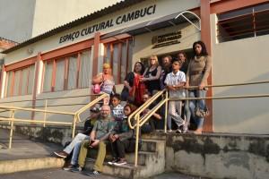 Alunos e alunas no Espaço Cultural Cambuci.