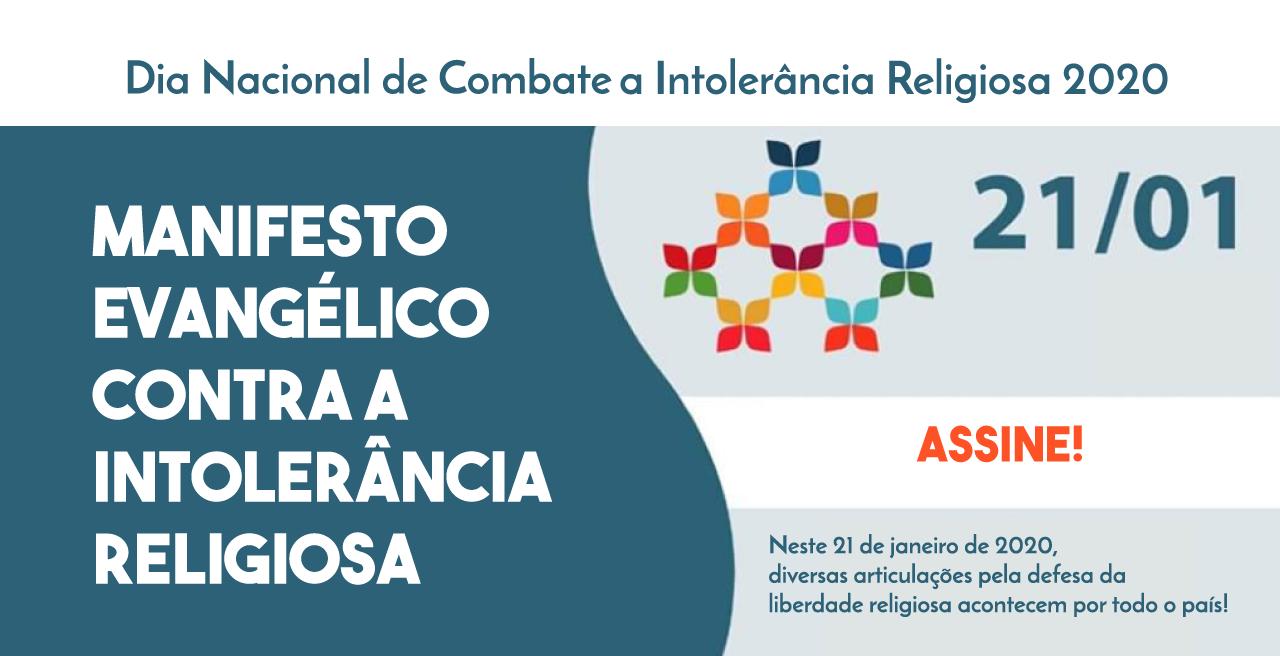 MANIFESTO EVANGÉLICO CONTRA A INTOLERÂNCIA RELIGIOSA