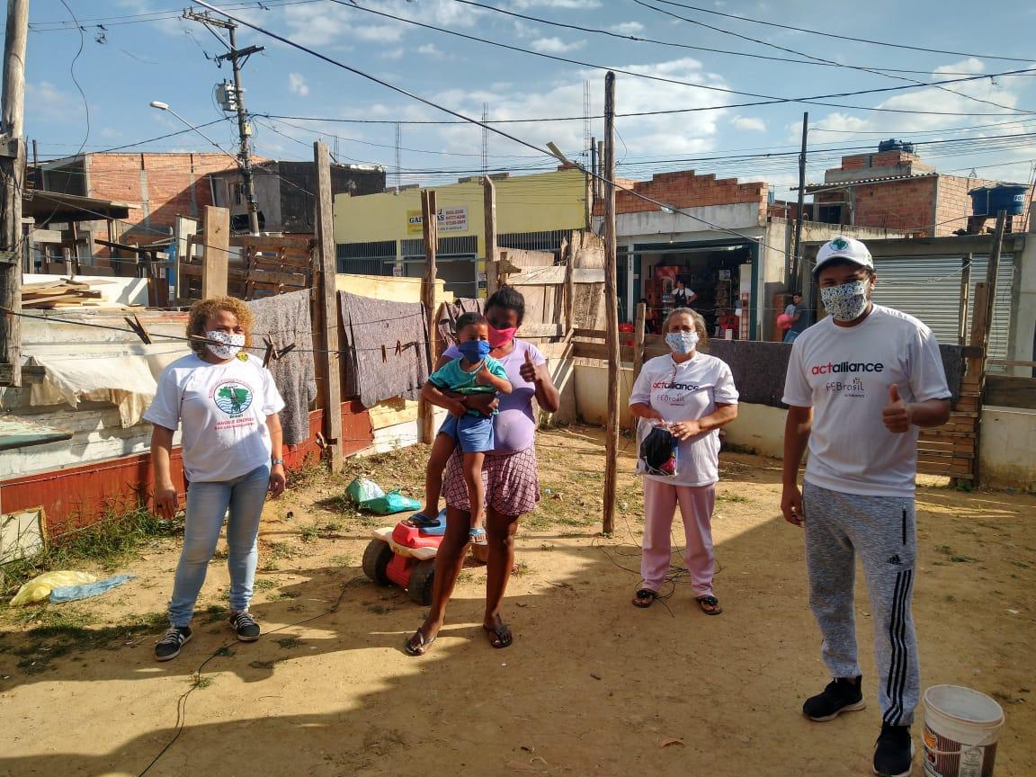 Famílias em São Paulo recebem ajuda emergencial com apoio do FEACT Brasil, pela  ACT Aliança