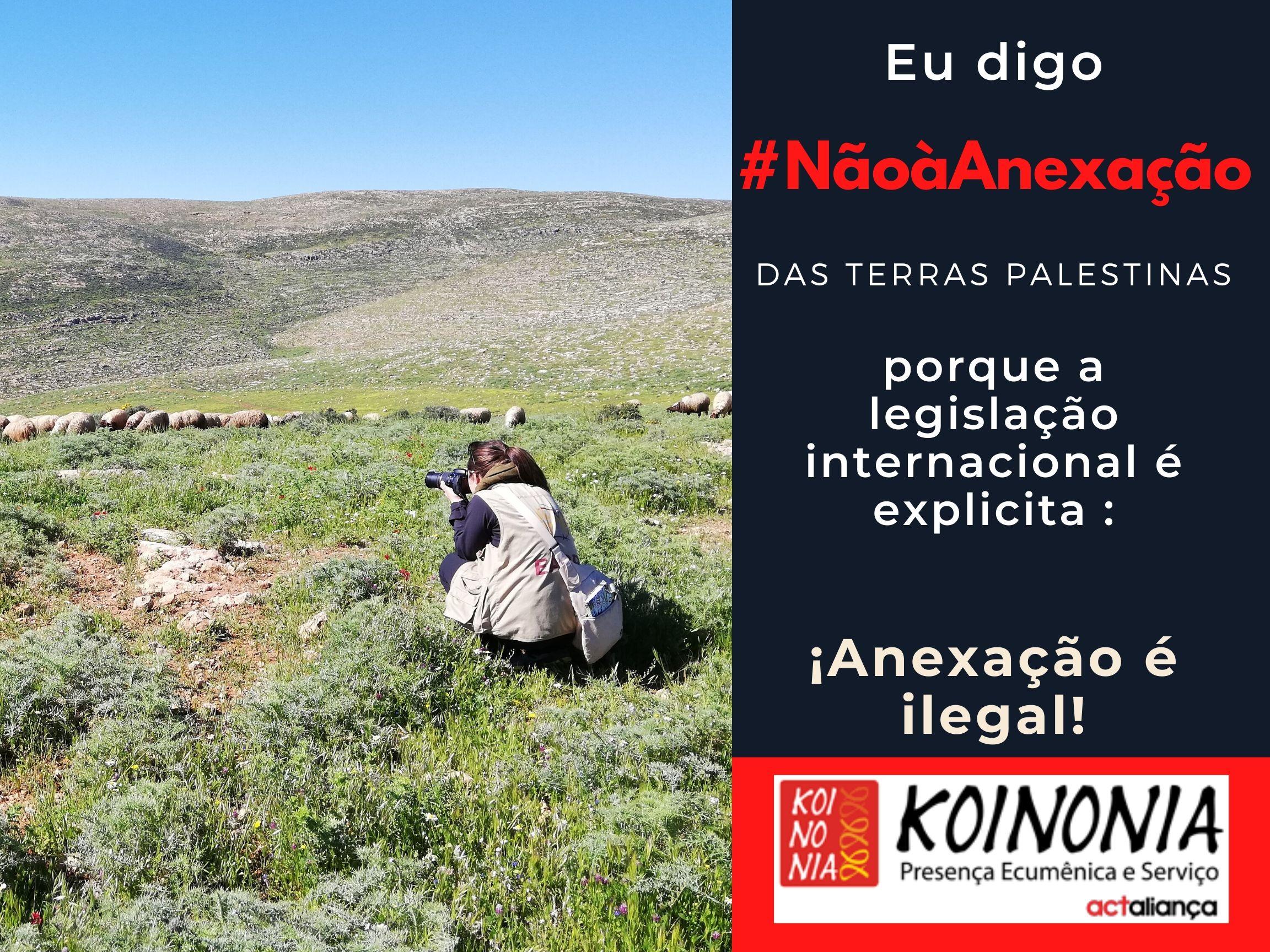 Campanha #NãoàAnexação das Terras Palestinas – EAPPI Brasil